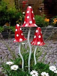 Red and White  Tinkling Toadstools - Giftpack of three