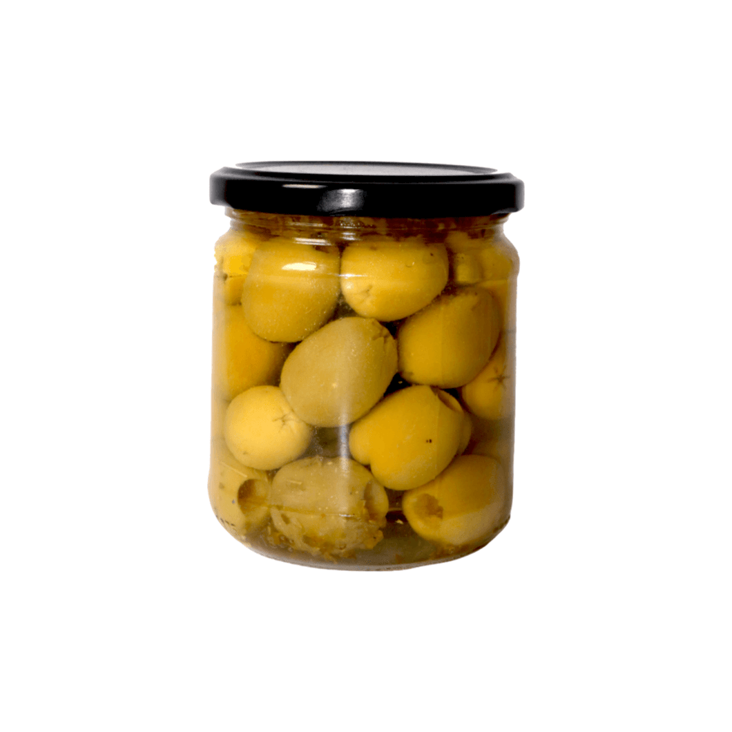 Pitted Green Queen Olives