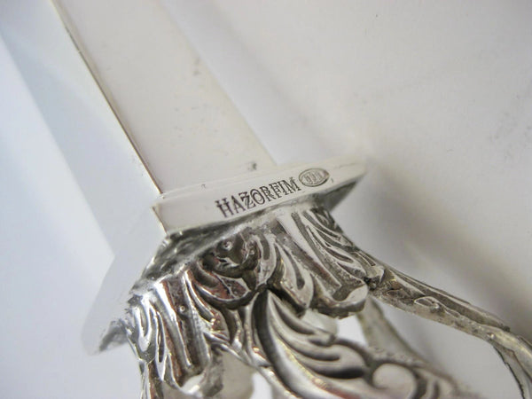 "FINE 925 STERLING SILVER HAND WROUGHT CROWN SQUARE 9.50"" FINGER TORAH POINTER"
