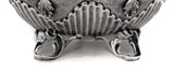 925 FINE STERLING SILVER ORNATE GARLAND CHASED LEAF APPLIQUE ESROG BOX