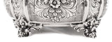 ITALIAN 925 STERLING SILVER HANDCRAFTED HEAVY INTRICATE FLOWER ESROG JEWELRY BOX