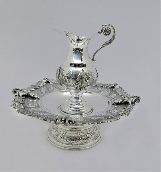 FINE 925 STERLING SILVER HANDMADE ORNATE FLORAL LEAF MAYIM ACHRUNIM CUP & BOWL