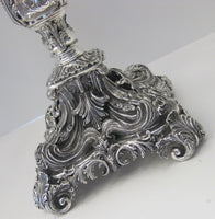925 STERLING SILVER HANDMADE HEAVY ORNATE SCROLL FOOTED ELEVEN LIGHT CANDELABRA