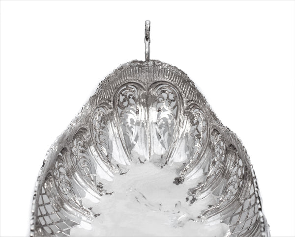 925 STERLING SILVER HANDCRAFTED OPEN EMBOSSED ORNATE FRUIT BOWL CENTERPIECE