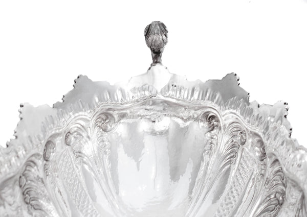 FINE ITALIAN 925 STERLING SILVER HANDCRAFTED ORNATE FRUIT BOWL CENTERPIECE