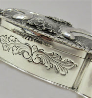 FINE ITALY 925 STERLING SILVER HANDMADE ORNATE FLORAL MATTE & SHINY BESUMIM BOX