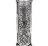 925 ITALIAN STERLING SILVER GARLAND DESIGN & LEAF APPLIQUE MEGILLAH HOLDER
