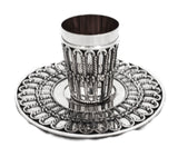 FINE ITALIAN ARCO CHASED STERLING SILVER CUP AND TRAY
