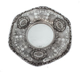 FINE 925 STERLING SILVER HANDCRAFTED CHASED ORNATE MATTE CUP & TRAY