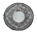 FINE 925 STERLING SILVER HANDMADE CHASED GARLAND DESIGN CUP & TRAY