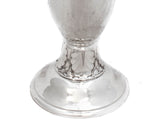 FINE ANTIQUE 925 STERLING SILVER ELEGANT MODERN HAMMERED FLOWER VASE