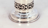 925 STERLING SILVER COLORED STONED & CITY LANDSCAPE DESIGN CUP & TRAY