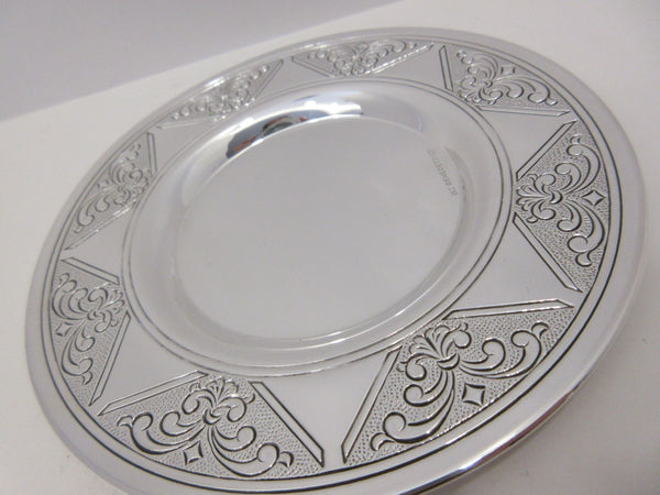925 STERLING SILVER & GILDED HANDMADE DELICATE SWIRL MATTE & SHINY CUP & TRAY