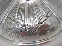 LARGE 925 STERLING SILVER HAND CHASED & LEAF APPLIQUES BALAGIO PASSOVER CUP