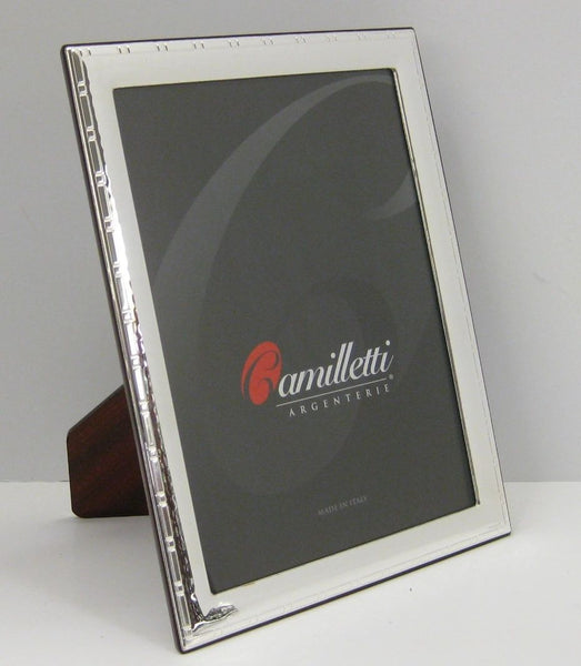 FINE ITALIAN SILVER LAMINATE HAMMERED EMBELLISHED UNIQUE PICTURE PHOTO FRAME