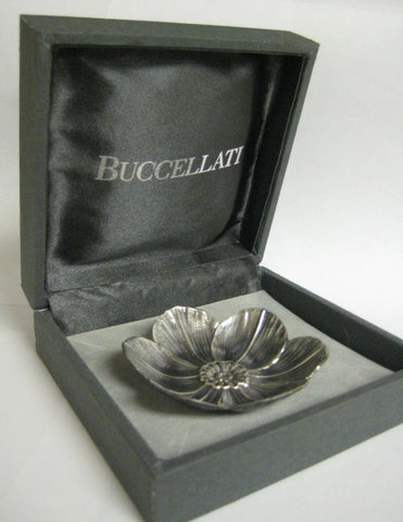 ITALIAN BUCCELLATI 925 STERLING SILVER HANDCRAFTED ANEMONE FLOWER