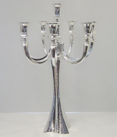 925 STERLING SILVER HANDMADE MODERN HAMMERED EIGHT LIGHT BOLERO CANDELABRA