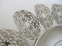 ITALIAN 925 STERLING SILVER HANDCRAFTED FLORAL FILIGREE DISH WITH LEGS