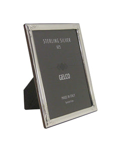 Gelco Italian 925 Sterling Silver Picture Frame with Scroll Embossed Corners (5x7)