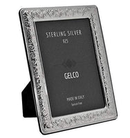 Italian 925 Sterling Silver Handmade Glossy Swirl Picture Frame