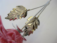 Italian Silver & Painted Porcelain Pink Long STEM Sunflower