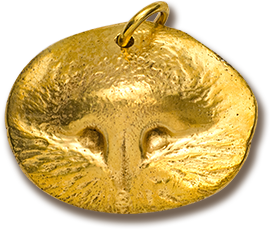 <span>Custom Gold</span> Pet Nose Print Pendant