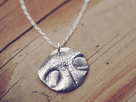 <span>Custom Silver</span> Pet Nose Print Pendant