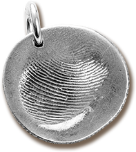 Load image into Gallery viewer, <span>Custom Silver</span> Fingerprint Pendant / Key Chain