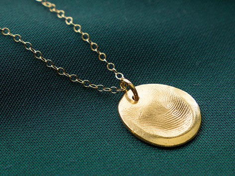 <span>Custom Gold</span> Fingerprint Pendant