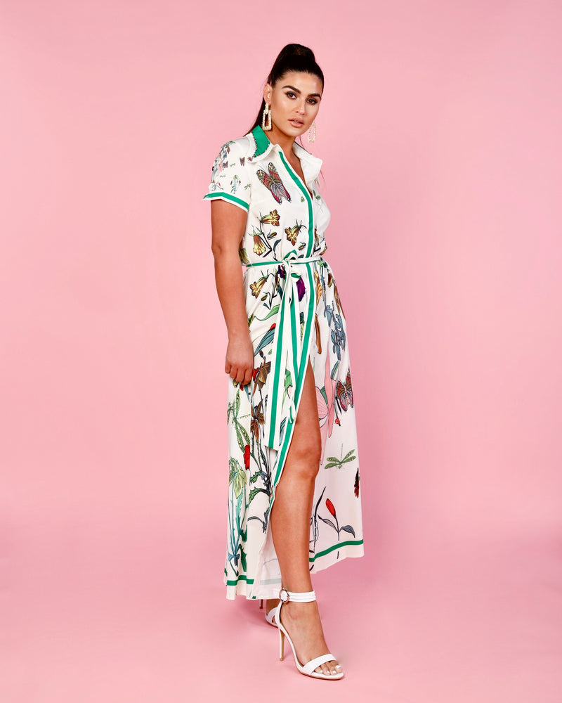Butterfly Jewel Maxi Dress