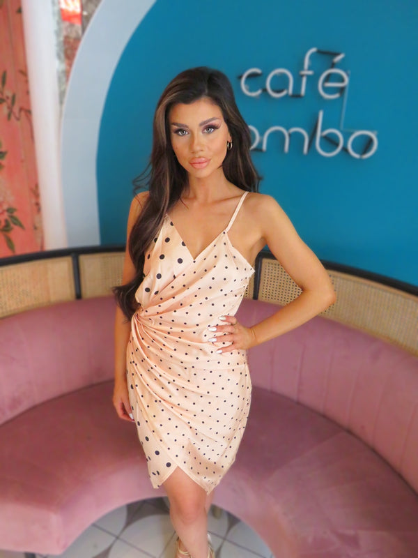 Champagne Polkadot Dress
