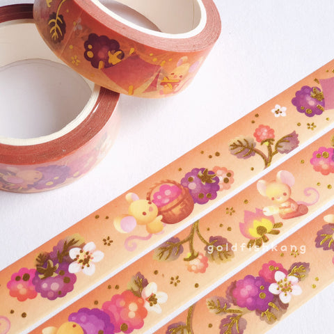 Fruit Gardens Washi Tape: Blackberry - Goldfishkang
