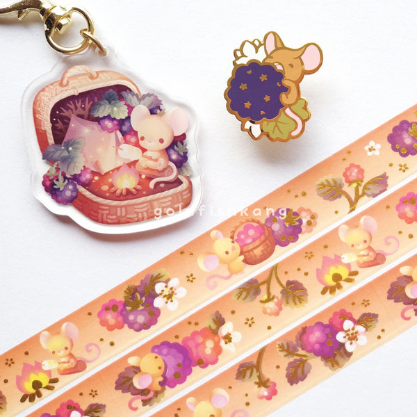 Fruit Gardens Keychain: Blackberry - Goldfishkang