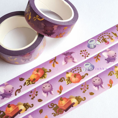 Fruit Gardens Washi Tape: Pumpkin - Goldfishkang