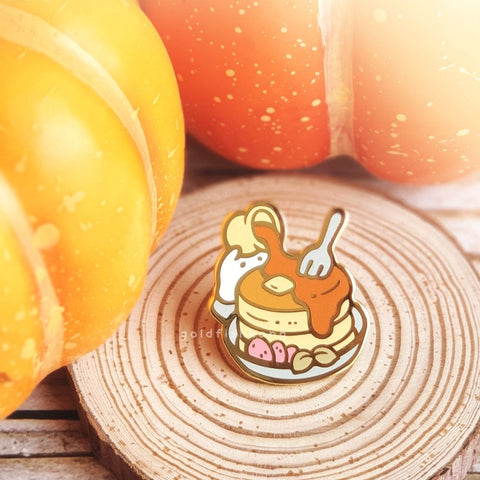 Spooky Teatime Pin: Ghostly Griddlecakes - Goldfishkang