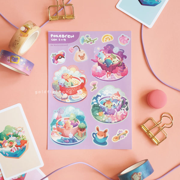 Pokebrew Value Set: Sticker Sheets - Goldfishkang