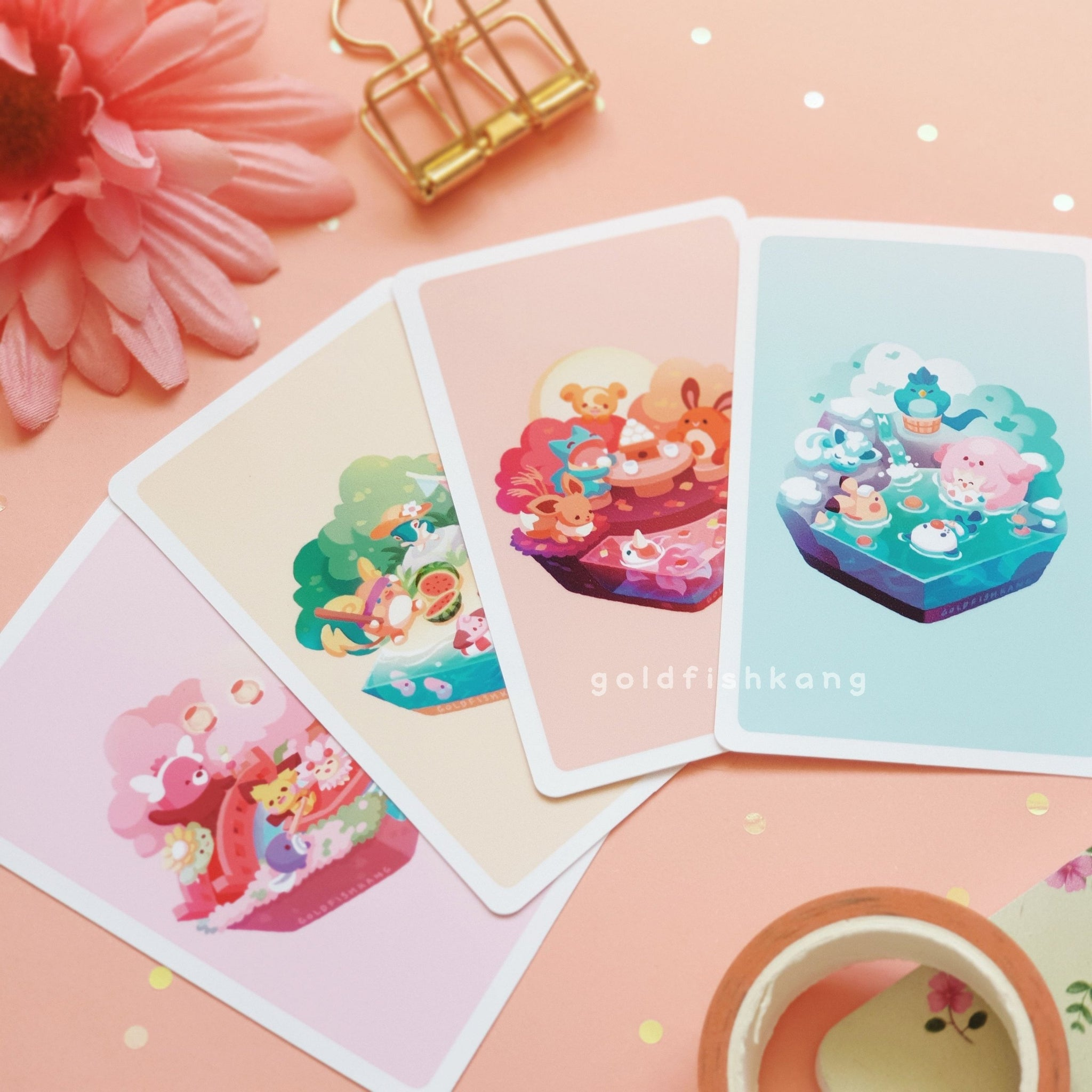 Seasons in Japan Value Set: Mini-Prints - Goldfishkang