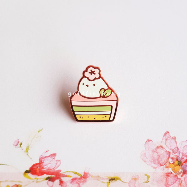 Spring Chickies Pin: Marshmallow Millie - Goldfishkang