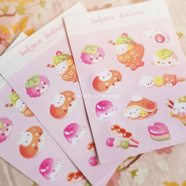 LATD Chapter 2 Sticker Sheet: Sakura Teatime