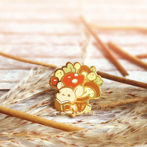 Tomes and Toadstools Pin: Fungi Forager