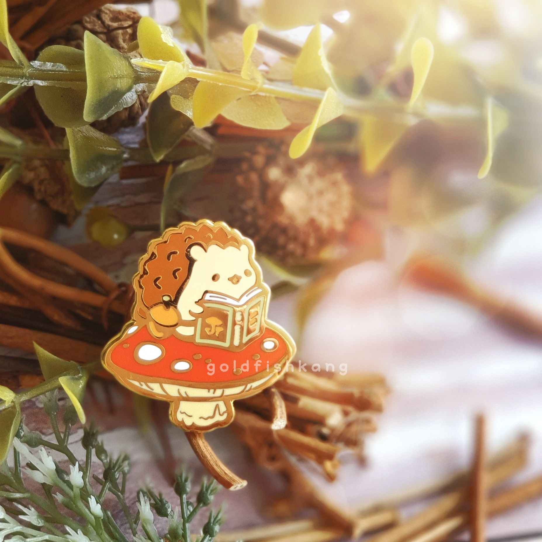 Tomes and Toadstools Pin: Amanita Academic