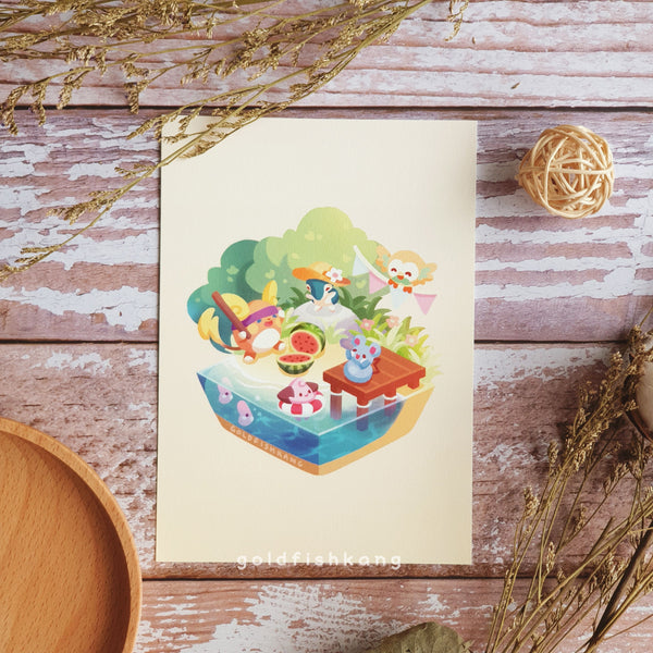 Seasons in Japan Print: Summer