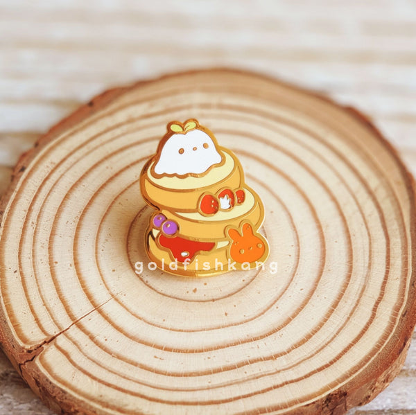 LATD Chapter 2 Enamel Pin: Strawberry Pancakes