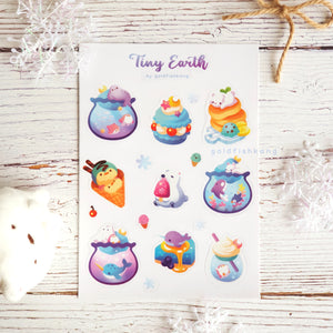 Tiny Earth Sticker Sheet: Winter