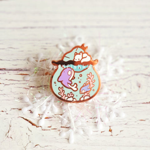 Tiny Earth Enamel Pin: Snow Place Like Home