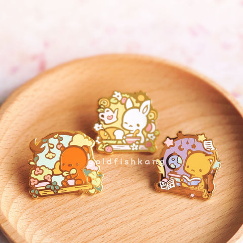 Windowsill Pals Enamel Pin Set