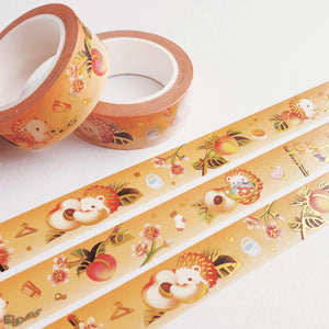 Fruit Gardens Washi Tape: Peach - Goldfishkang