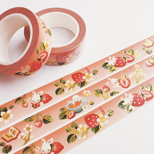 Fruit Gardens Washi Tape: Strawberry - Goldfishkang