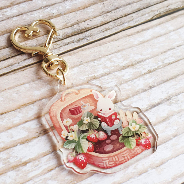 Fruit Gardens Keychain: Strawberry - Goldfishkang