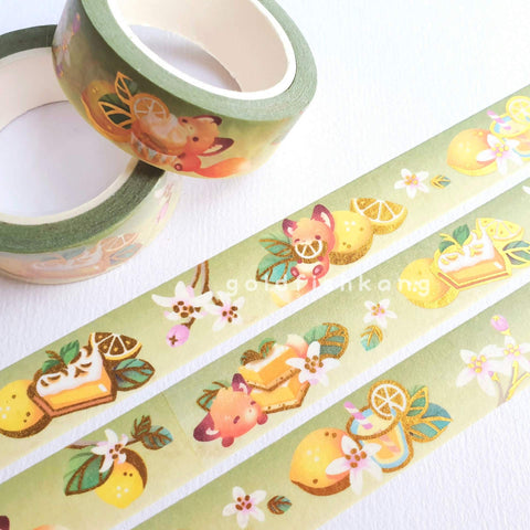 Fruit Gardens Washi Tape: Lemon - Goldfishkang